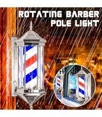 enchufe de ee.uu. peluquería de pole giratorios rayas leves inscripción estilos hair salon nueva rojo blanco azul negro multic 70 * 26 * 20 cm - blanco