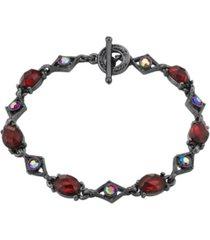 2028 black-tone link bracelet