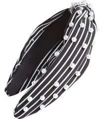 tasha pearly knot headband in black at nordstrom