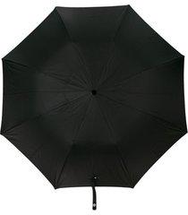 alexander mcqueen guarda chuva de caveira - preto