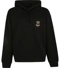 dolce & gabbana crown bee embroidered hooded sweatshirt