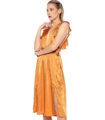 vestido naranja glamorous