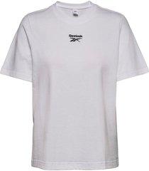 cl f small logo tee t-shirts & tops short-sleeved vit reebok classics