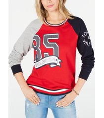 tommy hilfiger 85 colorblocked sweatshirt, created for macy's
