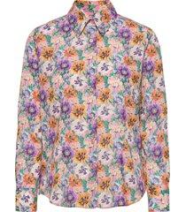 3419 - lotte bc overhemd met lange mouwen multi/patroon sand
