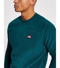 mens jack and jones green fleece sweatshirt