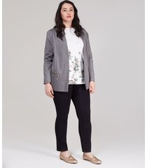 chaqueta corte recto gris 22