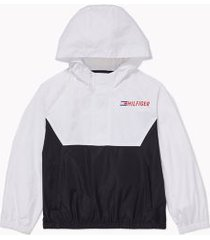 tommy hilfiger girl's adaptive hilfiger packable jacket white - m