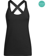 summum 3s4298-30072 990 singlet text straps organic luxury basics black wit