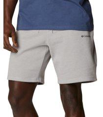 columbia men's logo fleece shorts