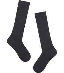 calzedonia tall wool and cotton socks man grey size 40-41