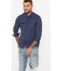overhemd in used look, slim fit