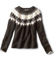 luxe fair isle crewneck sweater