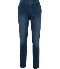 pantaloni di velluto elasticizzato skinny (blu) - john baner jeanswear