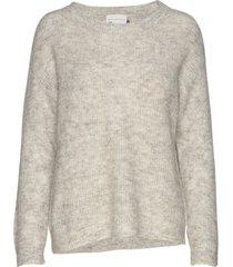 05 the knit pullover gebreide trui grijs denim hunter