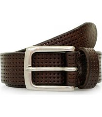 anderson's perforated leather belt | brown | af3392/14