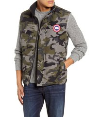 men's canada goose garson trim fit 625 fill power down vest, size x-small - grey