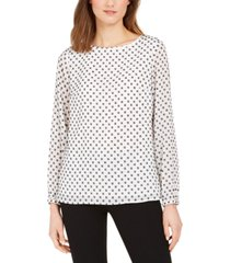 nine west clip-dot top