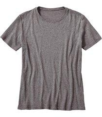 shirt met korte mouwen, antraciet-gemêleerd s