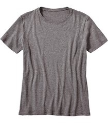 shirt met korte mouwen, antraciet-gemêleerd l