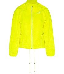 marine serre zip-front detachable sleeve jacket - yellow