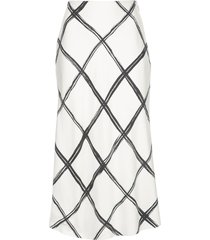 jason wu collection criss cross print skirt - white