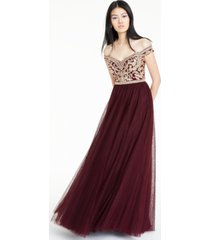 say yes to the prom juniors' embellished off-the-shoulder gown, created for macy's