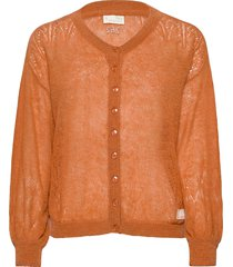 your instinct cardigan gebreide trui cardigan oranje odd molly