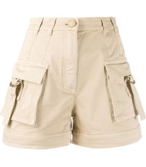 balmain utility pocket shorts - brown