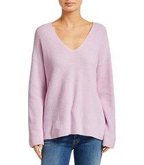 sierra v-neck rib-knit sweater