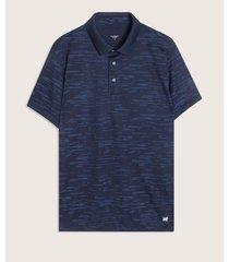 camiseta polo con textura rayas