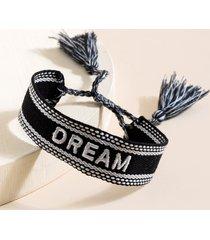 women's dream weave pulled bracelet in black by francesca's - size: one size