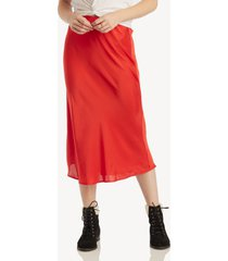 sanctuary women's everyday midi skirt in color: party red size xs from sole society