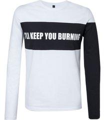 camiseta john john burning masculina (branco, gg)