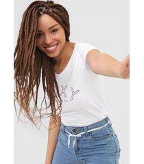 camiseta roxy lettering branca