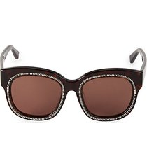 52mm oversized squared cat eye sunglasses