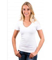 garage t-shirt ladies v-neck white ( art 0702)