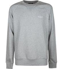 balmain chest logo ribbed sweatshirt