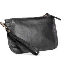 bolsa de mão mantoan  couro alça removível conforto preta