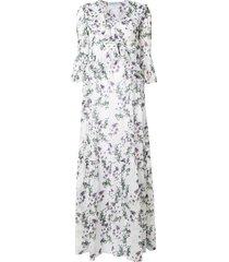blumarine floral full dress - white