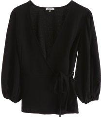 ganni wrap blouse