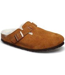 boston shearling slippers tofflor brun birkenstock
