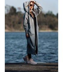 bluza/ płaszcz qr gray