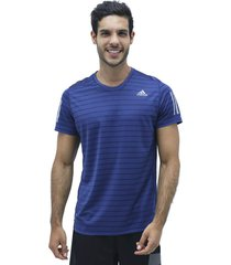 camiseta azul adidas own the run tee