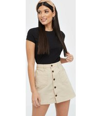 only onlamazing hw canvas skirt pnt minikjolar