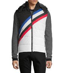 faux fur-trimmed hooded vest