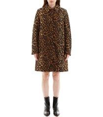 leopard-printed coat