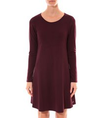 korte jurk coquelicot robe col rond bordeaux 16202