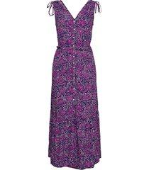 ruched shoulder maxi dress maxiklänning festklänning blå gap