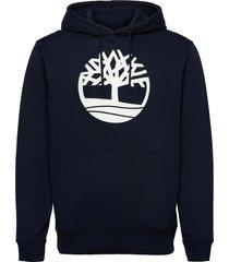 core logo p/o hood bb hoodie trui blauw timberland